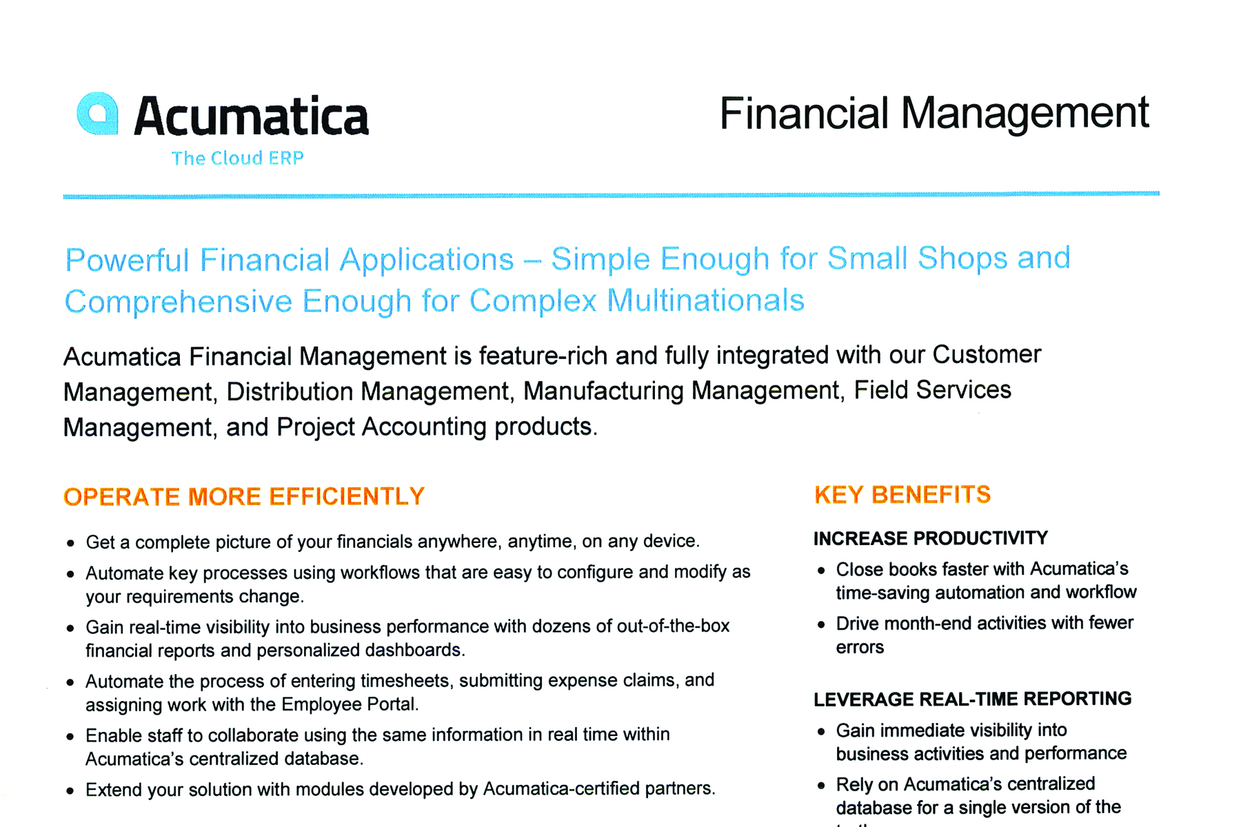 ACM -Financial Management