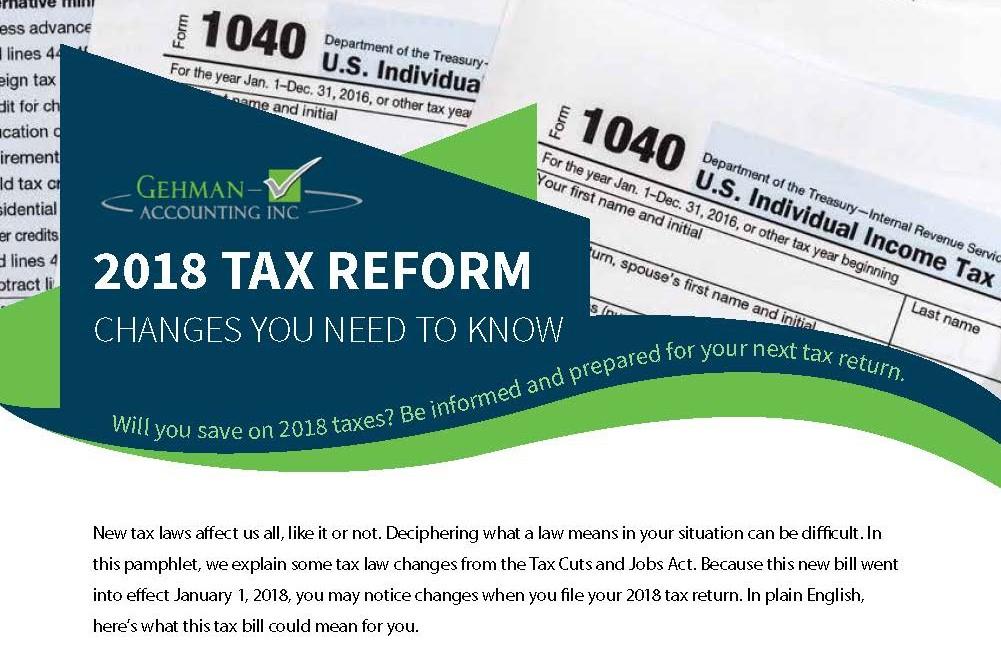 2018 Tax Reform Newsletter photo